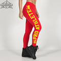HOT Sexy Solid Candy Neon Plus Size Women's Leggings Letter Printing Fitness Slim Women Pants Plus Size