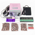 30000RPM Pink nail drill Nail Art Equipment Manicure Tools Pedicure Acrylics Grey Electric Nail Drill Pen Machine Set