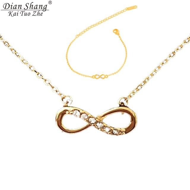 155c0805d757 ICFTZWE Bijoux cadenas de oro de plata de color infinito declaración  tatuaje gargantilla collar de la