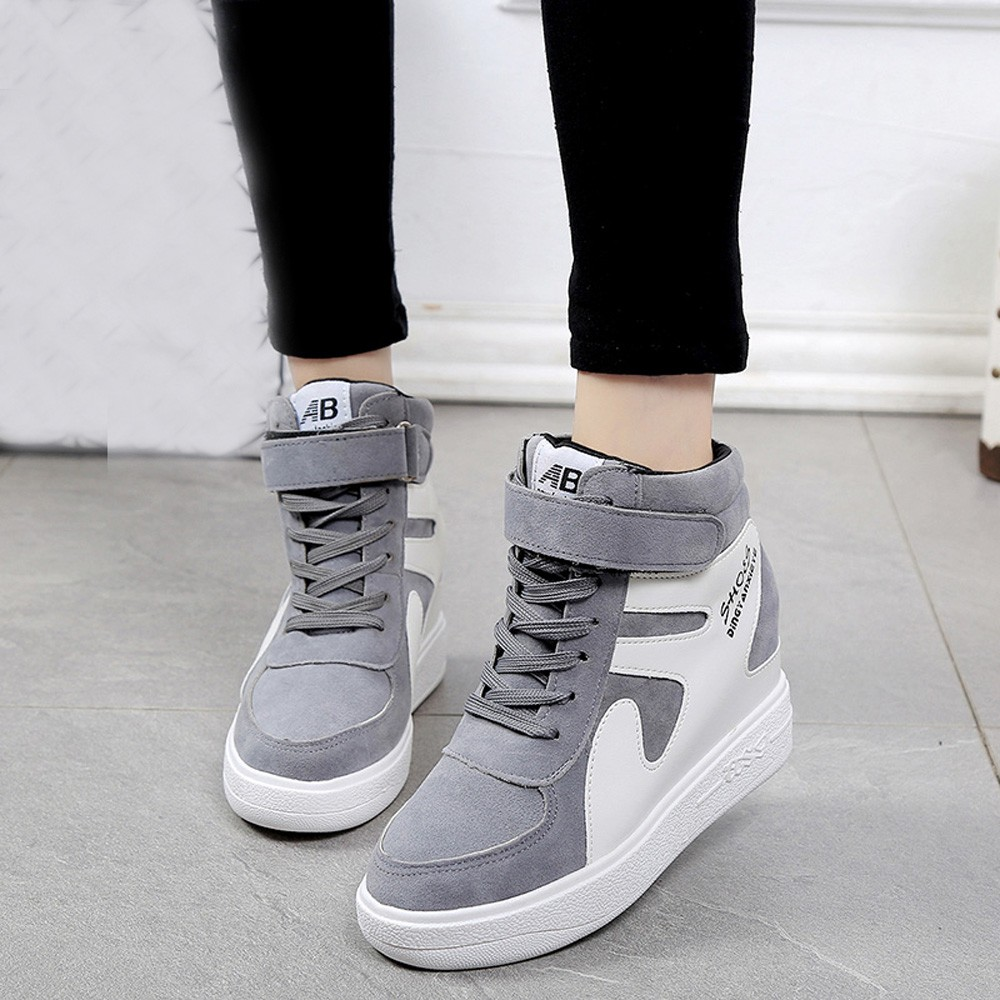 Platform-Shoes Sneakers Fashion Autumn Spring Casual With Zip Sweet Shallow Women Size-35-40