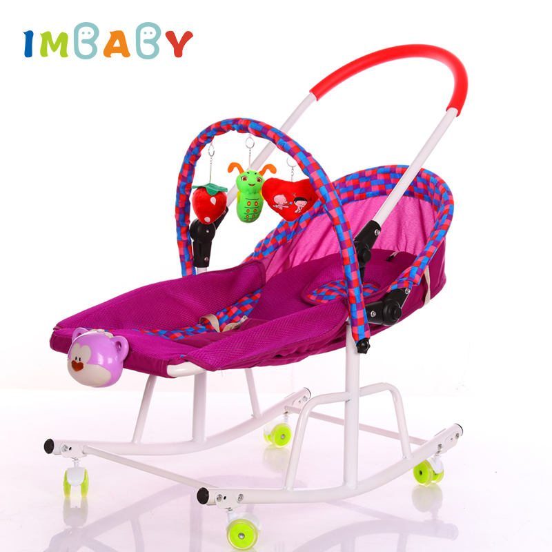 IMBABY Baby Cradle Baby Rocking Chair For Children With Music Player Baby Swing Chair Child Swing