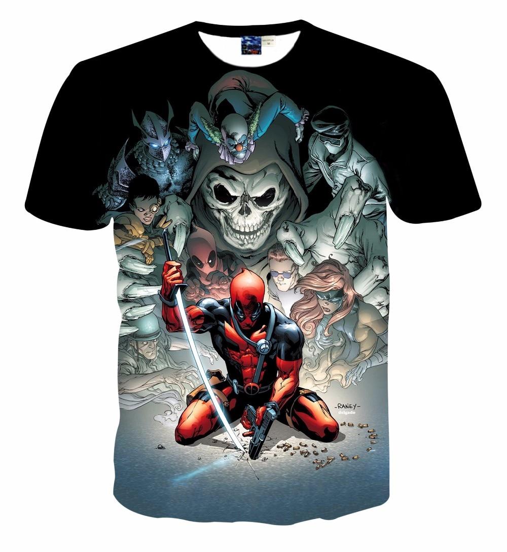 Super 2016 New American Comic Deadpool Printed 3D T Shirt Men/Women  XD24