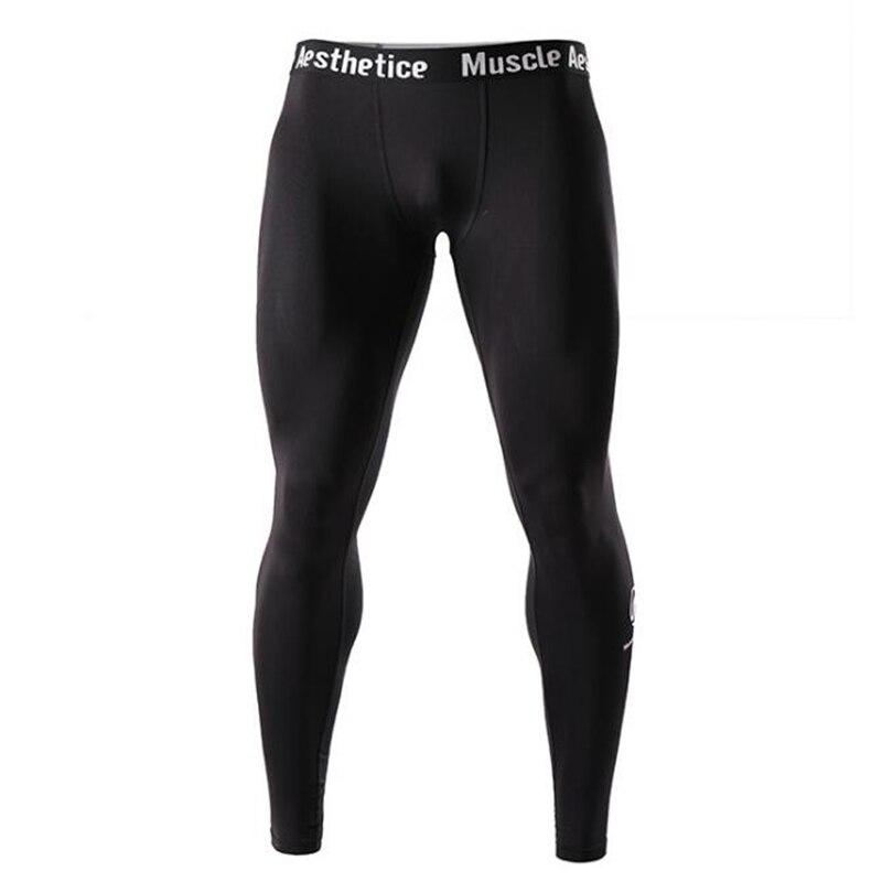 Summer New Men's Fitness Leggings Running Bodybuilding Pants Yoga Pants Men's Tight-fitting Trousers Breathable Quick-drying Leg