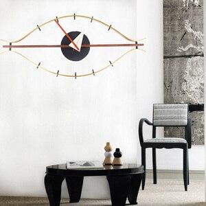 Image 4 - 3d 단일 얼굴 나무 벽 시계 장식 침묵 현대 디자인 아이 시계 석 영 홀더 벽 시계 아트 벽 시계 골동품