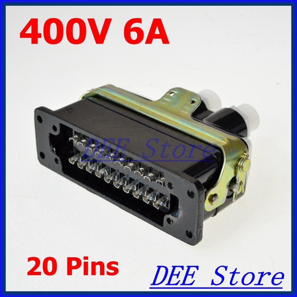 AC 400V 6A 20 Pin 1000ohm Deck Inserting Aviation Connector Adapter Plug CA20JZ2/KA cenmax vigilant v 6 a