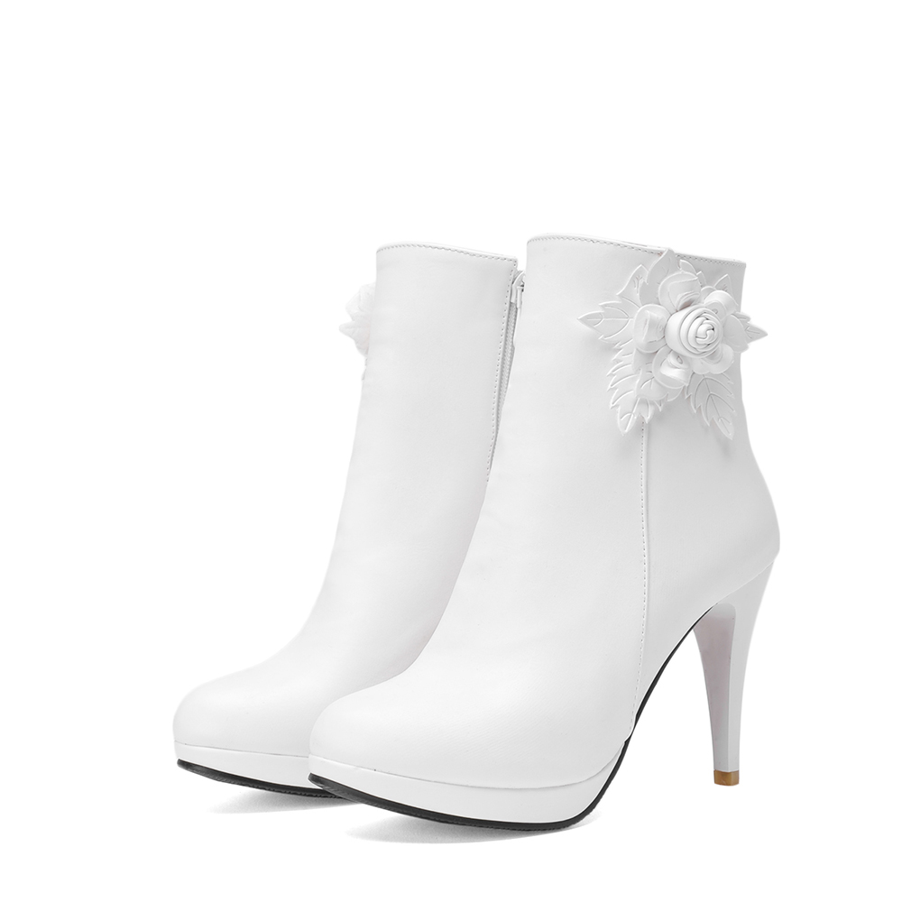 White Ankle Boots - Yu Boots