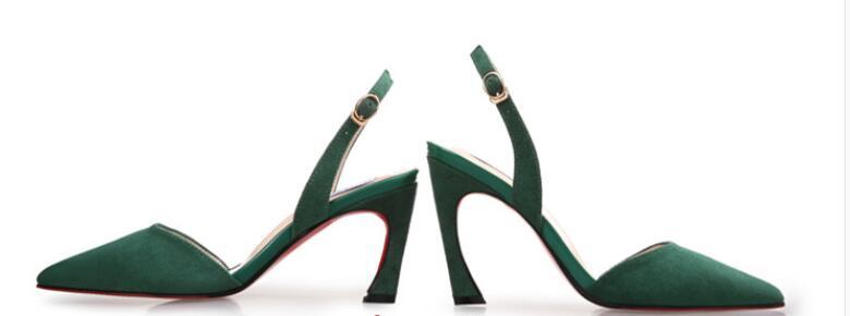 Rose Cm Peu vert Black bourgogne Troupeau Sexy green Minces Et Chaussures 9 Hot 7 Sandales noir De Femmes Rond Profonde burgundy Boucle Talons pink Bout 5xT1W0