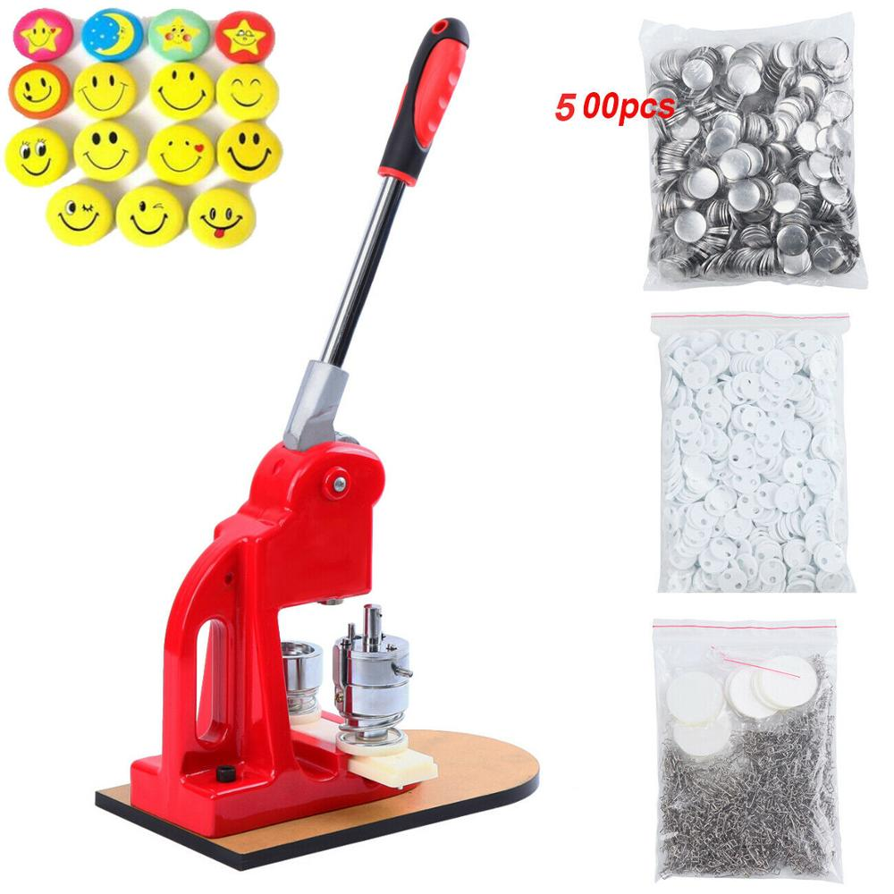 Yonntch 25mm 32mm 58mm Button Making Machine Button Press Badge Maker With 500 Button Blanks