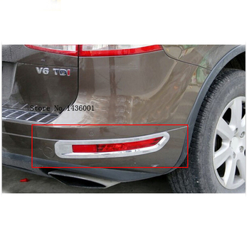 Fit For Volkswagon Touareg 2011 2012 2013 2014 ABS Chrome Rear Tail Fog Light Lamp Cover Trim For h