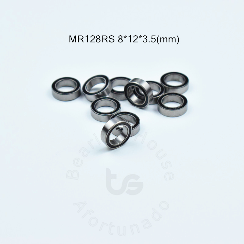 MR128RS  8*12*3.5(mm) 10piecesfree Shipping ABEC-5 Metal Sealed Miniature Mini Bearing MR128 MR128RS Chrome Steel  Bearing