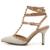 2016 Nuevos zapatos chaussure femme zapatos mujer de san valentín 3 correas mujeres Remaches bombas de los tacones altos zapatos de las señoras
