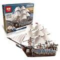 EN STOCK NUEVO LEPIN 22001 Barco Pirata Modelo Kits de Construcción de buques de guerra Imperial Bloque Juguetes de Regalo 1717 unids Compatible10210 Briks