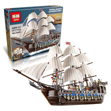NEW LEPIN 22001 Pirate Ship Imperial warships Model Building Kits Minifigure Block Briks Toys Gift 1717pcs Compatible10210