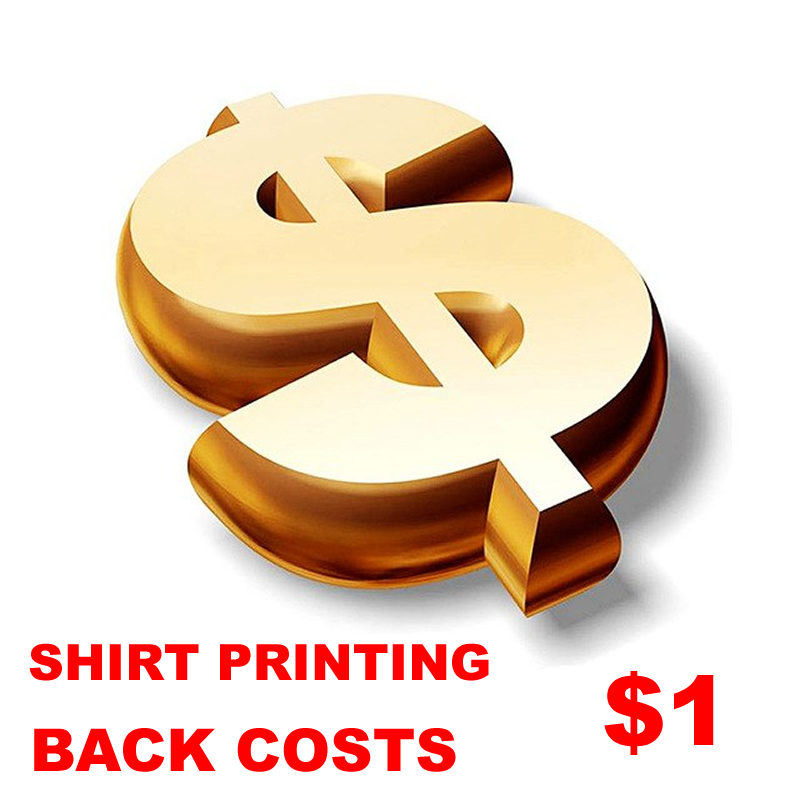Custom Shirt LOGO Design Shirts Clothes DIY Printing Back Costs About $1 Fee Extra Logo Cost Fashion Shirts Wholesale Clothing