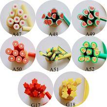 5 шт./партия 5 мм* 5 см Новая фруктовая серия Полимерная глина трость Необычные персиковый томатный банан звезда