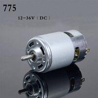 High Power 12V 24V DC Motor 775 Large Torque Ball Bearing Tools Low Noise