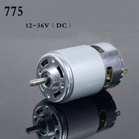 High Power 12V 24V DC Motor 775 Large Torque Ball Bearing Tools Low Noise