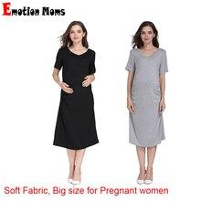 Emotion Moms Summer Pregnant Clothes Women Plus Size Pregnancy Dress Maternity Night Wholesale 2pcs/lot