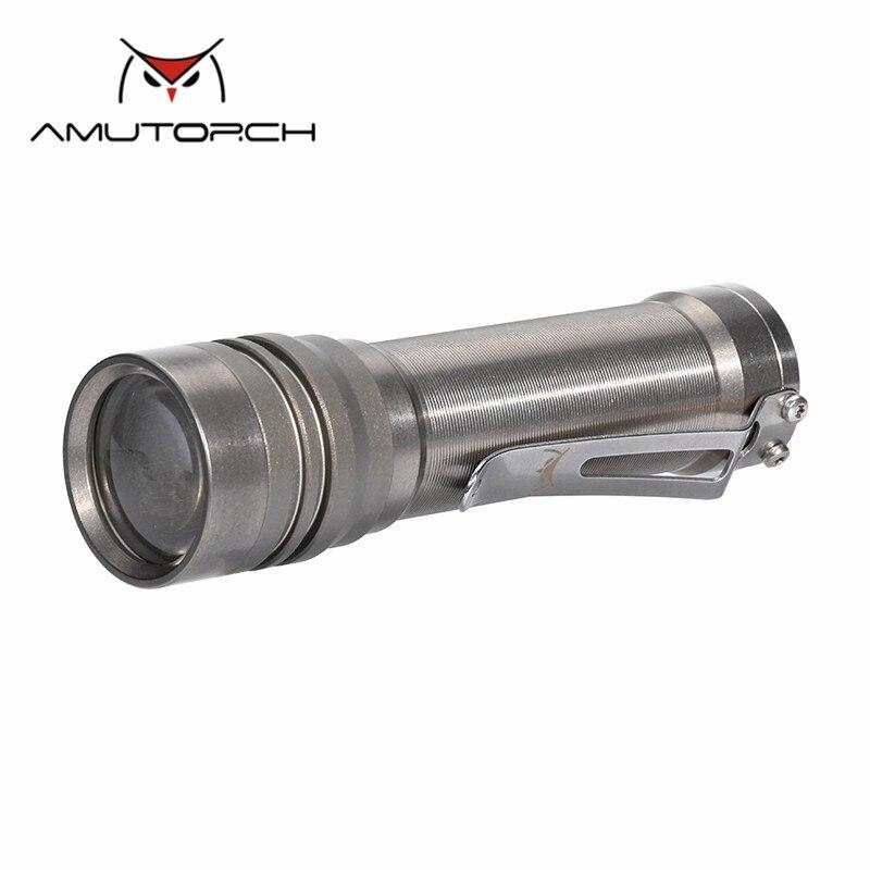 Amutorche AT40 4x Nichia 219C 1200LM lentille convexe projecteur professionnel alliage de titane EDC FlashAmutorche AT40 4x Nichia 219C 1200LM lentille convexe projecteur professionnel alliage de titane EDC Flash