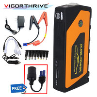 Car Jump Starter Hot sell 4USB Emergency Multi function For Petrol car Portable 9000mAh 2018 New Automotive Power Supply