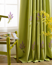 Korean Japanese-style garden embroidered curtains for living room curtains for bedroom blackout curtains cortinas living room