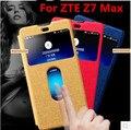 Для ZTE Nubia Z7 Max случае Новые прибытия моды windows flip кожаный чехол чехол Для ZTE Nubia Z7 max случае