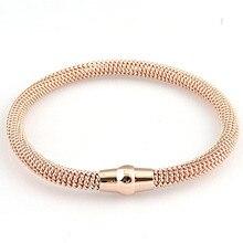 Gold/Silver/Black Stainless steel bracelets bangles brand gold jewelry women zircon gem stone Titanium steel bangles