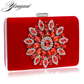 2017 Women Evening Bags Rhinestones Flower Diamonds Luxurious Evening Bags For Wedding Party Diamonds Evening  Bags