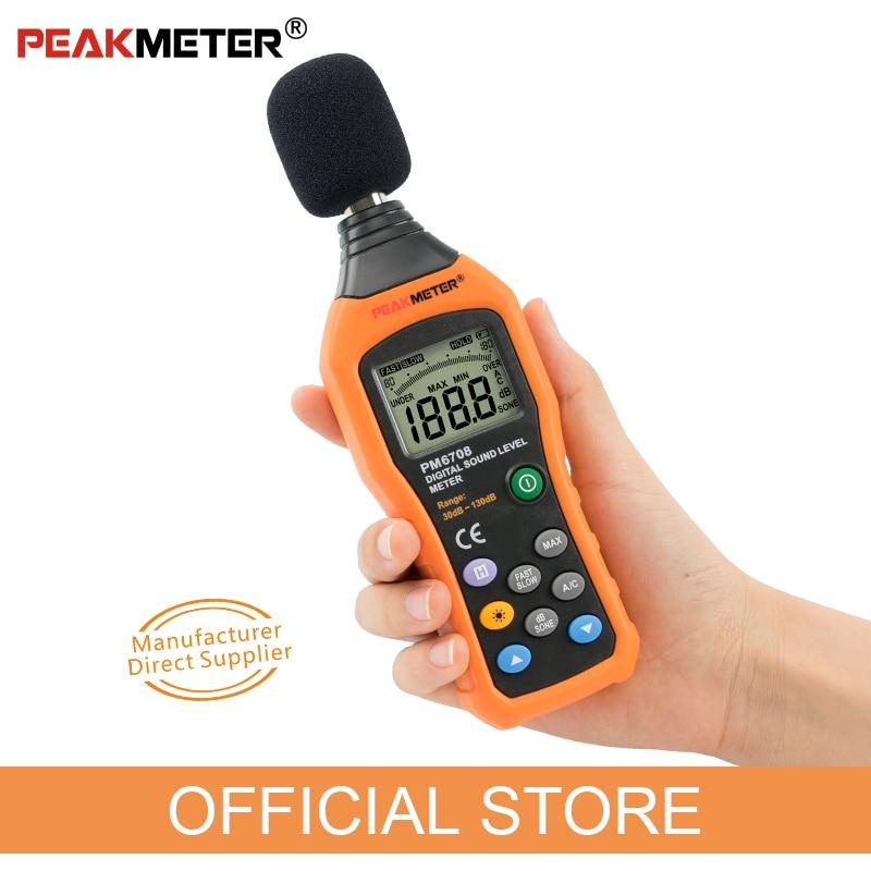 Hivatalos PEAKMETER PM6708 LCD digitális audio decibel hang - Mérőműszerek - Fénykép 3