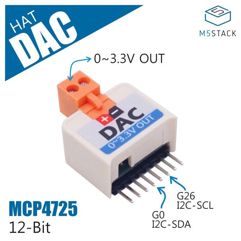 M5StickC ESP32Mini IoT Development Board Compatible DAC HAT (MCP4725) MCP4725 For Analog Signal Capture Converter Module