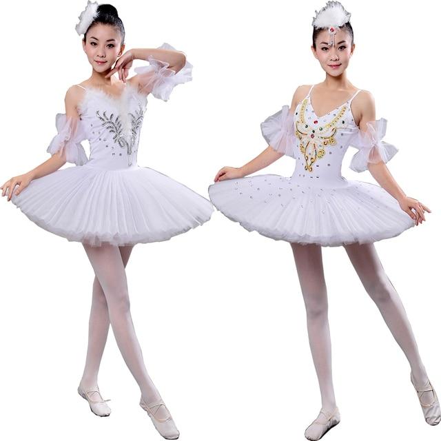 b77590f52102 White Adult Professional Swan Lake Tutu dancing dress Women Ballet ...