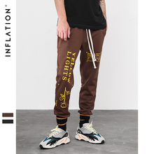 INFLATION Letter pringting sweatpants 2018 autumn streetwear male female pants hip hop trendy fashion track trousers 8835W