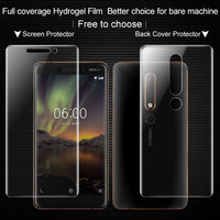 Full coverage for Nokia 6 2018 Second generation For Nokia 6.1 Screen protector and Back cover protector Imak Hydrogel Film|full coverage|screen protectorprotector screen -