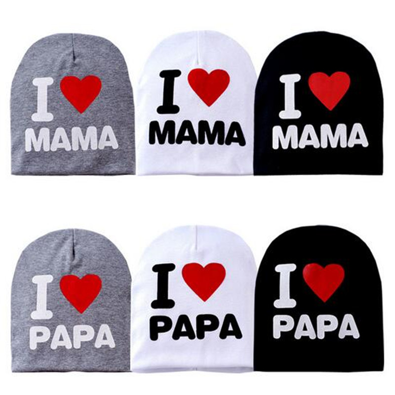 The new baby's cap and cotton knit cap cap I love my mom and Dad CC2534 lovely toddler first walkers baby boys and girls cotton shoes soft bottom hook sneakers i love mom dad