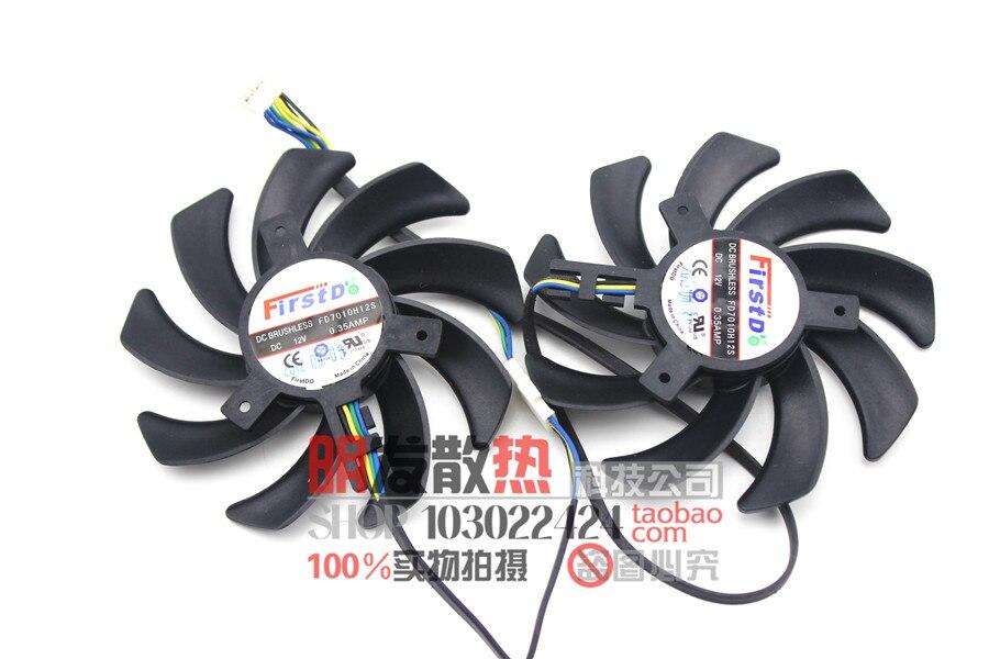 ФОТО HD7870 HD6850 2G HD7950 HD7970 HD6970 graphics card cooling fan