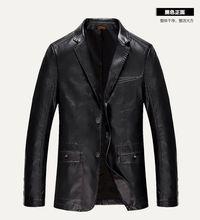 top  2016 Men brand New Leather Jacket Jaquetas Couro Men Leather Jacket Genuine Leather Jacket Men Male Winter Jacket Coat