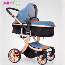 Aimile baby stroller 2 in 1 High landscape Multifunctionc can sit or lie folding four seasons Russia free shipping