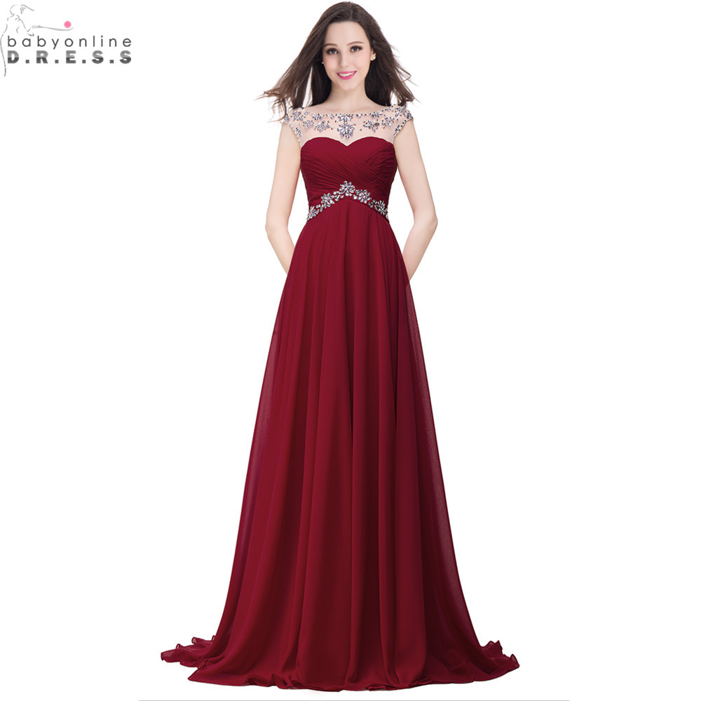 Sexy Long Red Prom Dresses Cheap