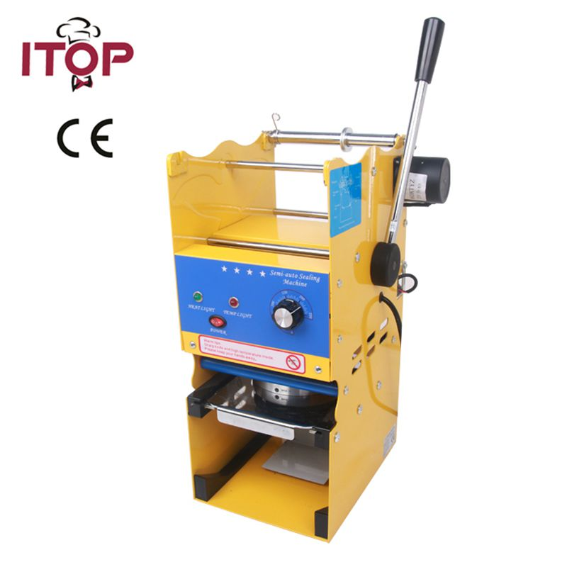 New Model 220V Semi-auto Cup Sealing Machine For Food And Drink Package, Cup Sealer/Bubble Tea Cup Sealing Machine free shipping wholesale new fully automatic stainless steel bubble tea cup sealing machine tea cup sealer