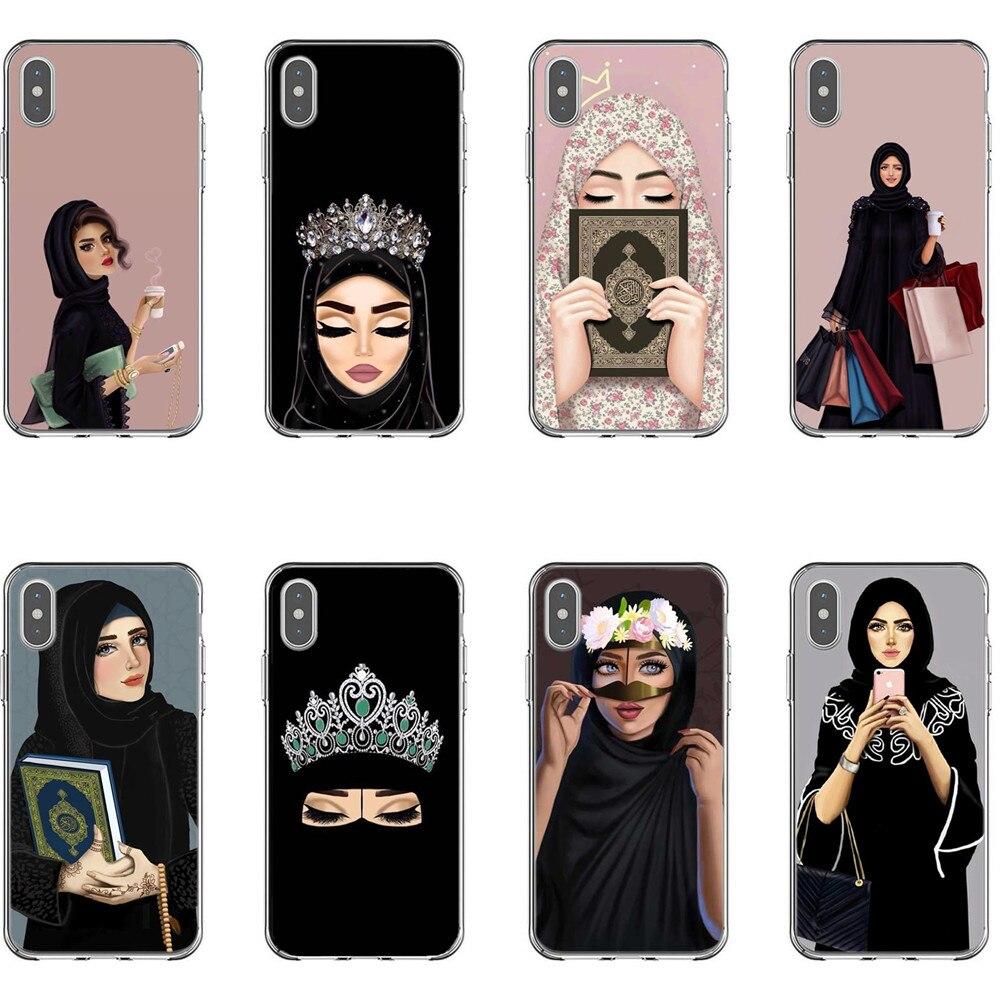 Muslimischen Islami Gril Augen Harten Fall für iPhone 6 6 s 7 8 Plus 5 5 s Luxus Islamischen Frau in Hijab Gesicht Abdeckung Für iPhone X XS MAX XR