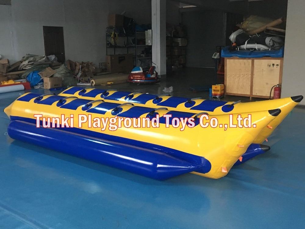 12 seats strong inflatable air closed banana boat drifting