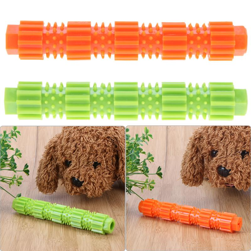 Pet Dog Toys Teething Non-toxic Food Leaking Rod Toys Orange Green TPR Dog Play Chew Toys Tooth Cleaning Products Dog Supplies