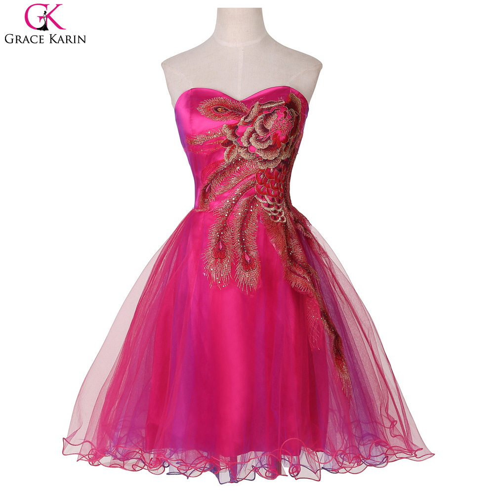 Elegant short evening dresses for wedding party grace for Dresses for afternoon wedding