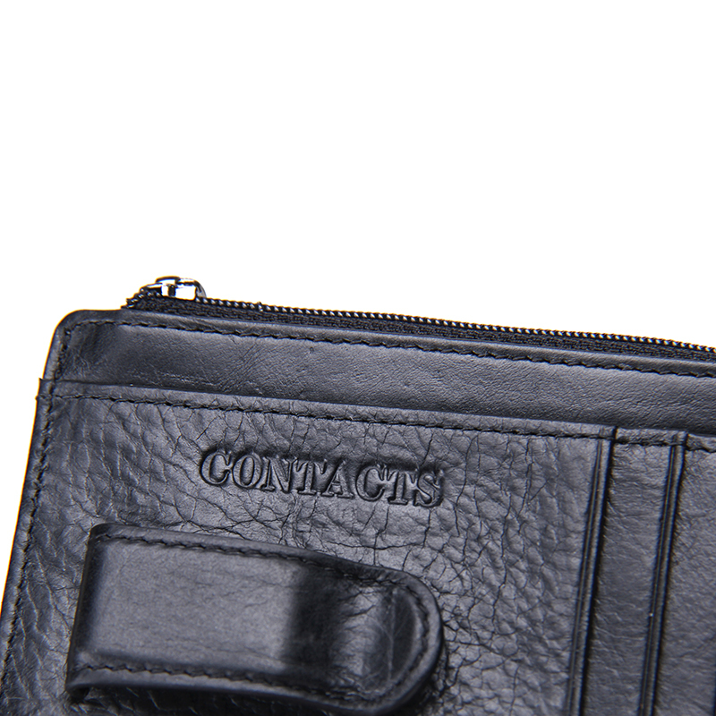 New Brand Design High Quality Genuine Cow Leather Money Clips Fashion Men Wallets With Coins Pocket ID Cards Bit Free Shipping