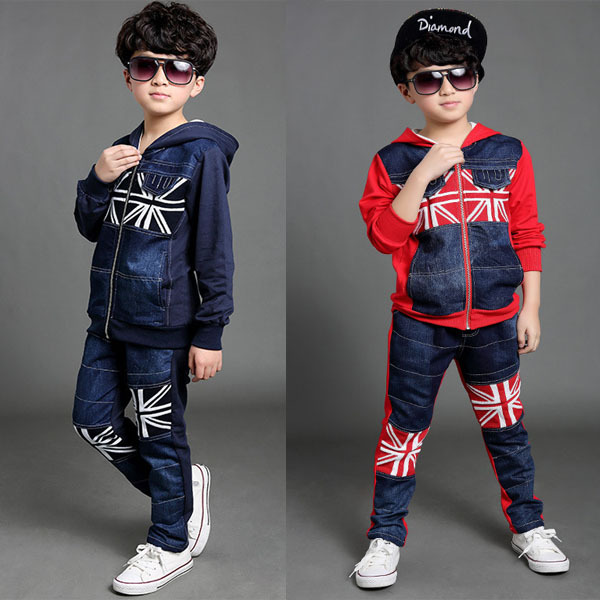 boys clothes track suit for a boy cool UK flag patchwork ...