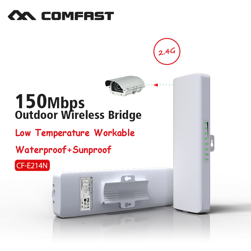 COMFAST CF E214N V2 free shipping outdoor coverage 5km siganl booster amplifier 2 4Ghz 14dBi High