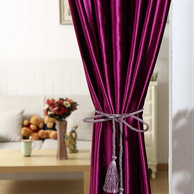 Royal Blue Velvet Curtain Fabric Blackout Curtain Ceiling