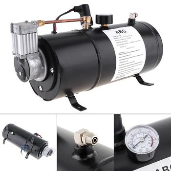 Air Horn Compressor >> Universal 12v 125 18a Psi Air Horn Compressor Tank Pump For