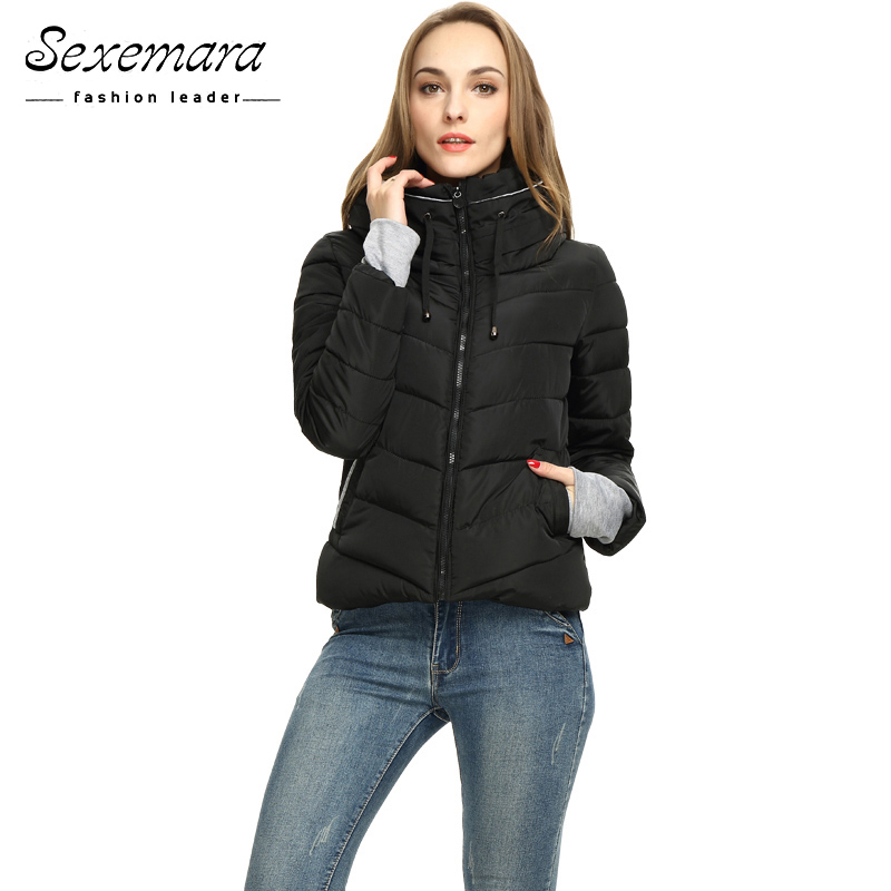 Girl Winter Zipper Jacket Women   Parka   Thicken Outerwear Anorak Women Down   Parka   Coats Short Slim Design Cotton-padded Plus Size