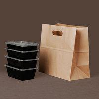 50pcs food paper bag ,Bread, fruit sweet snack box packing bags takeaway bag handbag